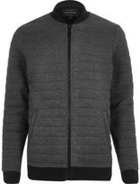 River Island MensDark grey quilted jacket