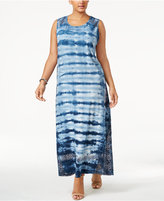 Style&Co. Style & Co Plus Size Tie-Dyed Maxi Dress, Created for Macy's