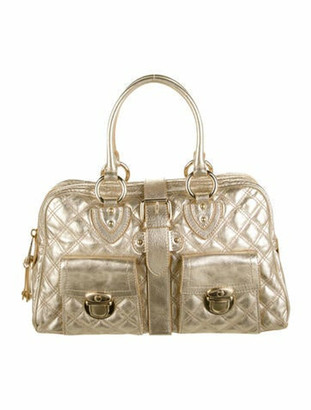 Marc Jacobs Quilted Leather Handle Bag Metallic