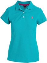 U.S. Polo Assn. Women's Polo Shirts TQRP - Turquoise Rapids Small Pony Polo - Women