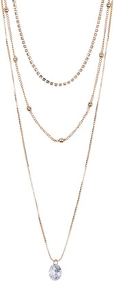 Area Stars Bling Layered Necklace Set