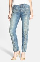 MICHAEL Michael Kors Women's Studded Ankle Boyfriend Jeans