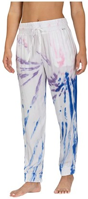 Hurley Printed Beach Joggers (Racer Blue) Women's Clothing