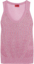 Missoni Metallic Crochet-knit Tank - Pink