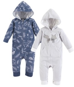 Yoga Sprout Baby Vision 0-24 Months Unisex Baby Fleece Union Suit/Coveralls and Sleep and Play, Unicorn Fleece Coverall 2-Pack
