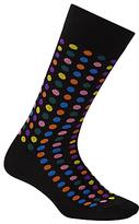 Paul Smith Confetti Dot Socks, One Size, Black/multi
