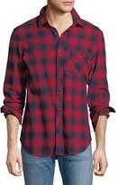 Hudson Blurry Plaid Western Shirt