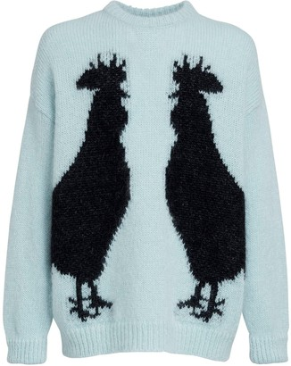 Loewe Rooster Intarsia Mohair Blend Sweater