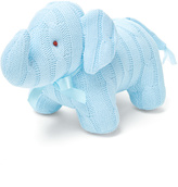 Blue Cable-Knit Elephant Toy