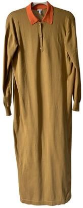 Loewe Camel Cotton Dresses
