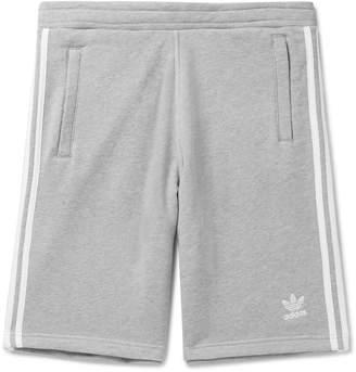 adidas Logo-Embroidered Melange Loopback Cotton-Jersey Shorts