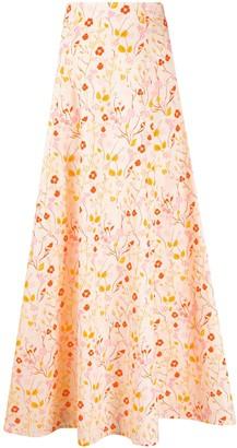 C'Est La V.It Floral Maxi Skirt