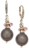 INC International Concepts Gold-Tone Gray Imitation Pearl Drop Earrings, Only at Macy's