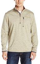 G.H. Bass Men's Long Sleeve Melange 1/2 Zip Mock Shirt