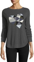 Lisa Todd Prism Heart Cotton-Blend Sweater, Plus Size