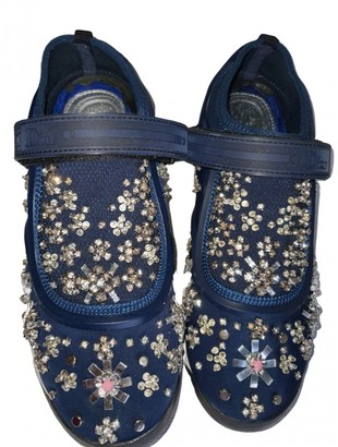 Christian Dior Fusion Navy Glitter Trainers