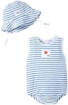 Kissy Kissy Whale Tails Romper w/ Hat (Baby) - Blue - 12-18 Months