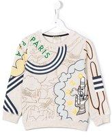 Kenzo cactus print sweatshirt - kids - Cotton/Polyester - 2 yrs