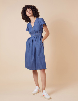 Monsoon Denim Midi Dress in LENZING TENCEL Blue