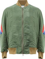 Facetasm zipped bomber jacket