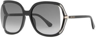 Jimmy Choo Tilda Black Oversized Sunglasses