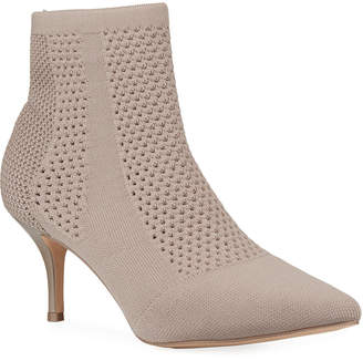 Charles by Charles David Alter Stretch Knit Perforated Ankle Booties