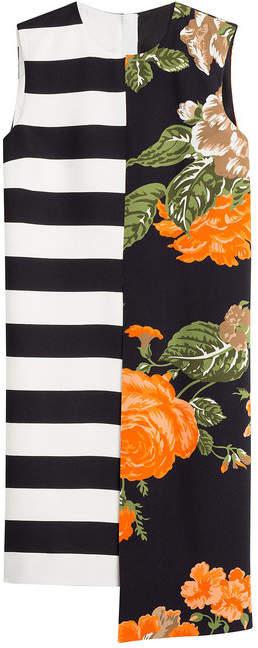 MSGM Printed Dress with Asymmetric Hemline