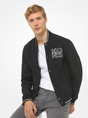 Michael Kors Bonded Fleece Baseball Jacket