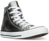 Converse Chuck Taylor High-Top Metallic Leather Casual Sneakers from Finish Line
