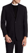 Brooks Brothers Black Sharkskin Two Button Notch Lapel Jacket