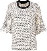 Steffen Schraut star print blouse - women - Silk/Spandex/Elastane - 38