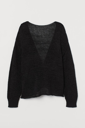 H&M Low-backed Sweater - Black