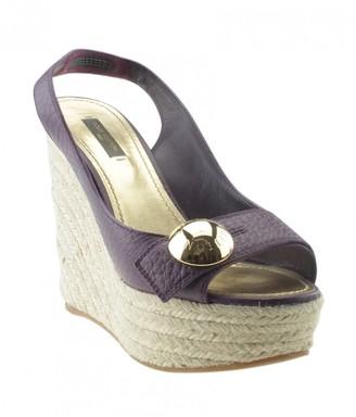 Louis Vuitton Purple Leather Heels