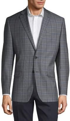 Calvin Klein Check Wool Sport Coat