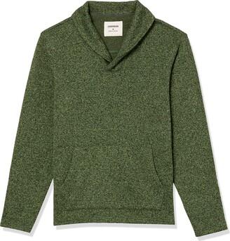 Goodthreads Amazon Brand Men's Sweater-Knit Fleece Long-Sleeve Shawl Collar Pullover