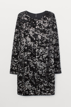 H&M Sequined velour dress