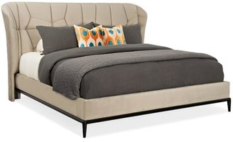 Caracole Modern Modern Edge Vector Upholstered Platform Bed Size: Queen