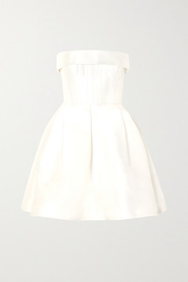 Alex Perry Elyse Strapless Silk-faille Mini Dress - White