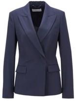 HUGO BOSS - Regular Fit Jacket In An Oversize Check Wool Blend - Patterned