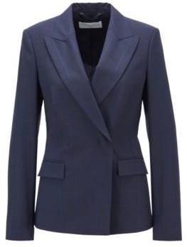HUGO BOSS Regular Fit Jacket In An Oversize Check Wool Blend - Patterned
