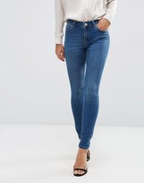 Asos Lisbon Mid Rise Skinny Jeans In Abbie Wash