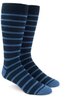 Tie Bar Trad Stripe Light Blue Dress Socks