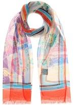Etro Printed silk-chiffon scarf