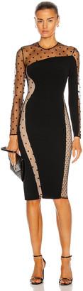 Stella McCartney Arielle Dress Evening Cady in Black | FWRD