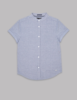 Autograph Cotton Rich Grandad Collar Shirt (3-14 Years)