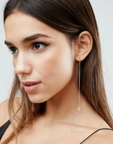 Asos Strand Chain Gem Drop Earrings