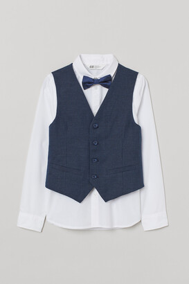H&M Shirt with Vest and Bow Tie