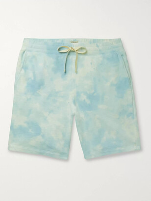 Faherty Cross Creek Tie-Dyed Loopback Cotton-Jersey Shorts
