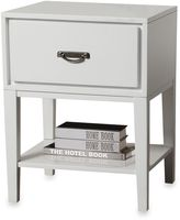 Bed Bath & Beyond Verona Home One Drawer Accent Table/Straight Leg Nightstand in White