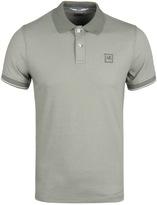 Cp Company Khaki Tacting Short Sleeve Polo Shirt